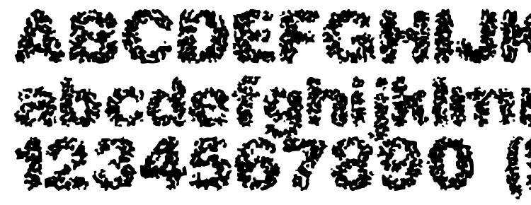глифы шрифта Spastic BRK, символы шрифта Spastic BRK, символьная карта шрифта Spastic BRK, предварительный просмотр шрифта Spastic BRK, алфавит шрифта Spastic BRK, шрифт Spastic BRK