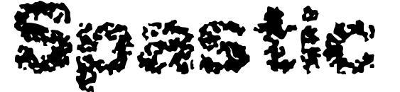 Шрифт Spastic BRK