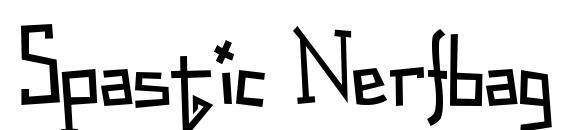 Шрифт Spastic Nerfbag