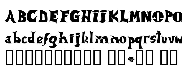 глифы шрифта Spawned, символы шрифта Spawned, символьная карта шрифта Spawned, предварительный просмотр шрифта Spawned, алфавит шрифта Spawned, шрифт Spawned