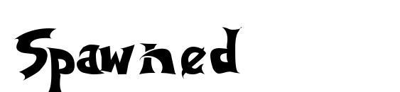 Шрифт Spawned