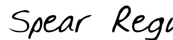 Spear Regular Font
