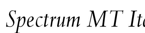 Spectrum MT Italic Font
