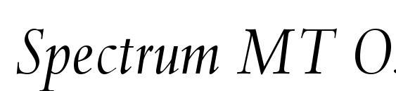 Шрифт Spectrum MT OsF Italic