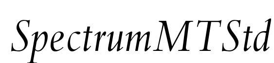 Шрифт SpectrumMTStd Italic