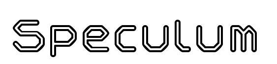 Speculum outline Font