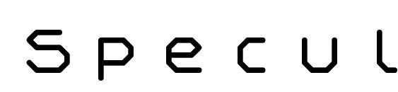Speculum font, free Speculum font, preview Speculum font