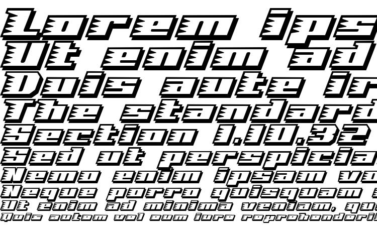 specimens Speed solid font, sample Speed solid font, an example of writing Speed solid font, review Speed solid font, preview Speed solid font, Speed solid font