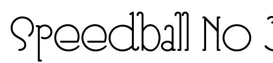 Speedball No 3 NF Font