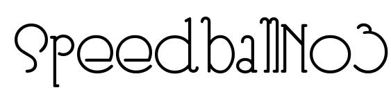 шрифт SpeedballNo3, бесплатный шрифт SpeedballNo3, предварительный просмотр шрифта SpeedballNo3