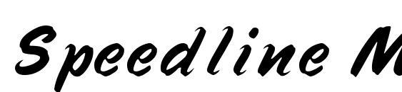 Speedline MF font, free Speedline MF font, preview Speedline MF font