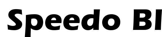 Speedo Black SSi Bold Font
