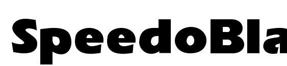 Шрифт Speedo Black SSi Extra Bold