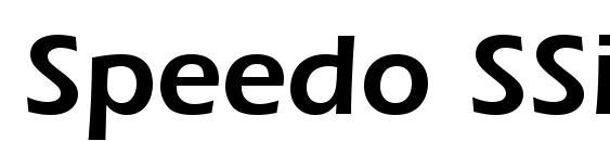 Speedo SSi Semi Bold Font