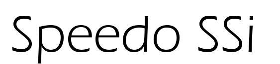 Speedo SSi Font