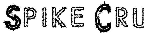 шрифт Spike Crumb Geiger, бесплатный шрифт Spike Crumb Geiger, предварительный просмотр шрифта Spike Crumb Geiger