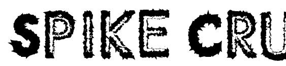 Spike Crumb Swollen font, free Spike Crumb Swollen font, preview Spike Crumb Swollen font