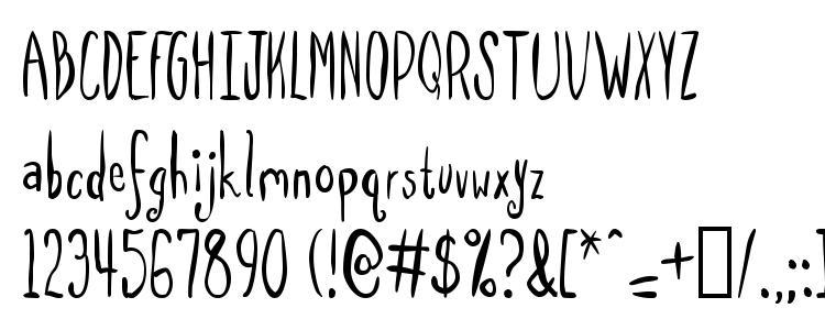 глифы шрифта SpillMilk, символы шрифта SpillMilk, символьная карта шрифта SpillMilk, предварительный просмотр шрифта SpillMilk, алфавит шрифта SpillMilk, шрифт SpillMilk