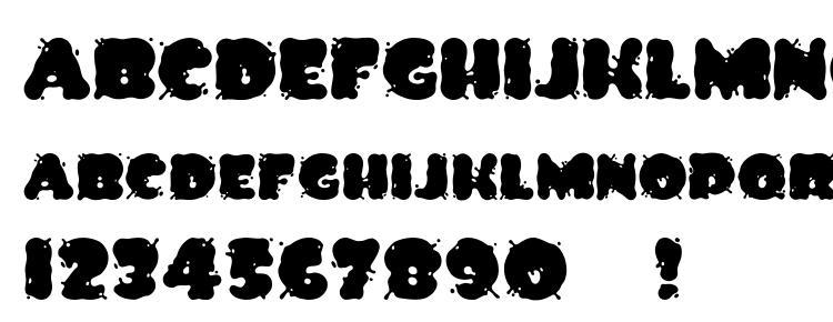 глифы шрифта Spilt ink, символы шрифта Spilt ink, символьная карта шрифта Spilt ink, предварительный просмотр шрифта Spilt ink, алфавит шрифта Spilt ink, шрифт Spilt ink