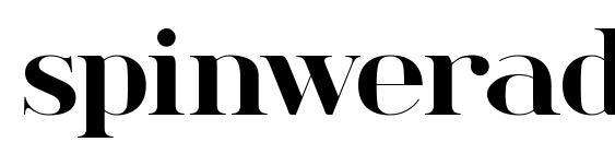 spinwerad Bold font, free spinwerad Bold font, preview spinwerad Bold font