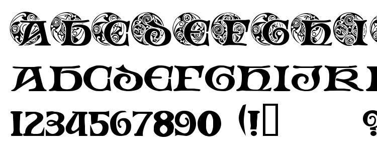 glyphs Spiral Initials font, сharacters Spiral Initials font, symbols Spiral Initials font, character map Spiral Initials font, preview Spiral Initials font, abc Spiral Initials font, Spiral Initials font