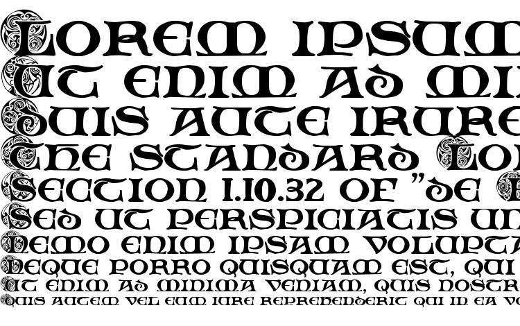 specimens Spiral Initials font, sample Spiral Initials font, an example of writing Spiral Initials font, review Spiral Initials font, preview Spiral Initials font, Spiral Initials font