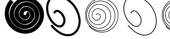 шрифт Spiralicus, бесплатный шрифт Spiralicus, предварительный просмотр шрифта Spiralicus