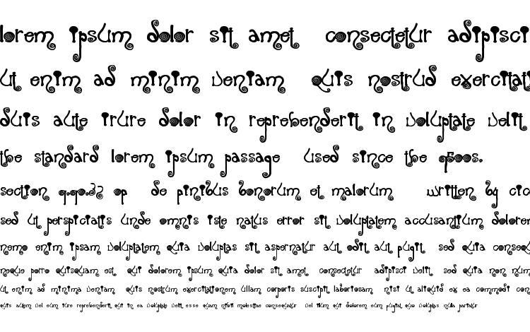 образцы шрифта Spiraling, образец шрифта Spiraling, пример написания шрифта Spiraling, просмотр шрифта Spiraling, предосмотр шрифта Spiraling, шрифт Spiraling
