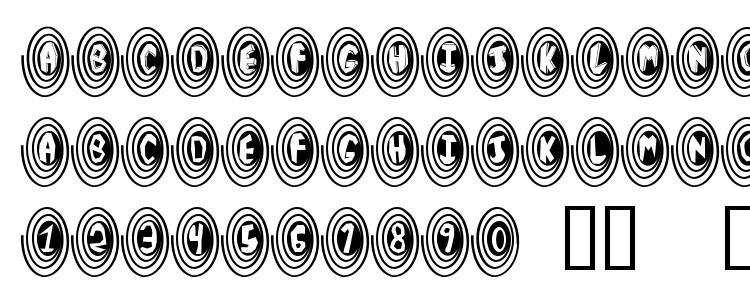 глифы шрифта SpiralOdellic, символы шрифта SpiralOdellic, символьная карта шрифта SpiralOdellic, предварительный просмотр шрифта SpiralOdellic, алфавит шрифта SpiralOdellic, шрифт SpiralOdellic