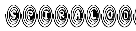 шрифт SpiralOdellic, бесплатный шрифт SpiralOdellic, предварительный просмотр шрифта SpiralOdellic