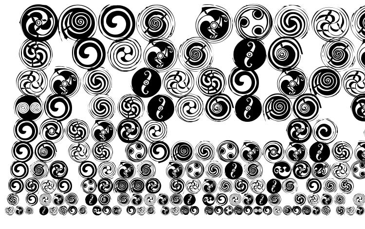 specimens Spirals font, sample Spirals font, an example of writing Spirals font, review Spirals font, preview Spirals font, Spirals font