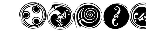 Шрифт Spirals