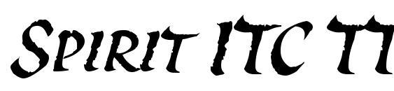 Шрифт Spirit ITC TT