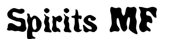 шрифт Spirits MF, бесплатный шрифт Spirits MF, предварительный просмотр шрифта Spirits MF