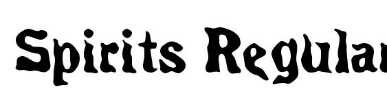 Spirits Regular Font