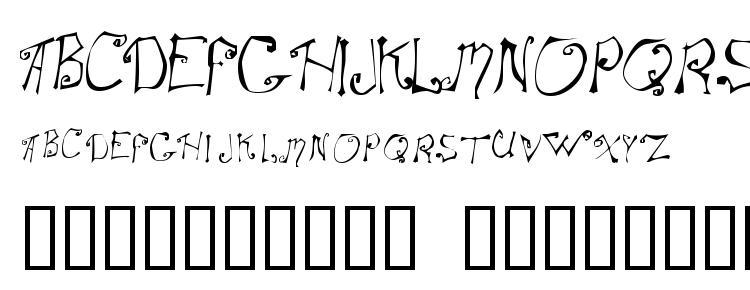 глифы шрифта Spitcurl, символы шрифта Spitcurl, символьная карта шрифта Spitcurl, предварительный просмотр шрифта Spitcurl, алфавит шрифта Spitcurl, шрифт Spitcurl