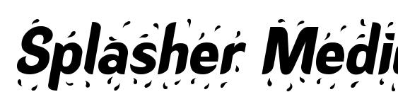 Splasher Medium Font