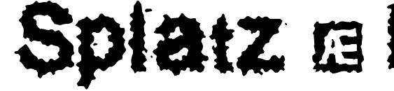 Шрифт Splatz (BRK)