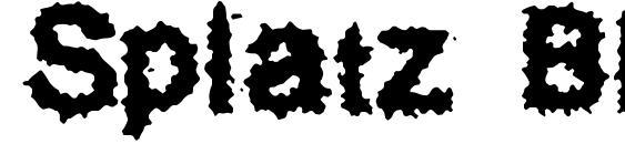 Шрифт Splatz BRK
