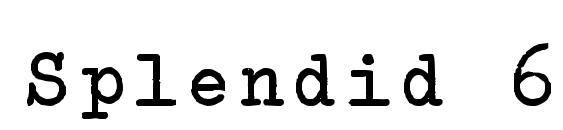 Splendid 66 bold Font