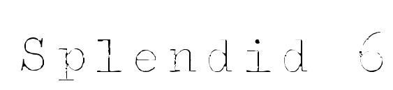 Шрифт Splendid 66