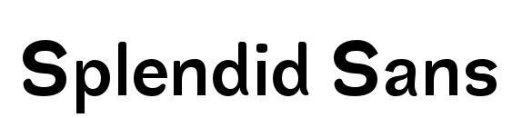 Шрифт Splendid Sans