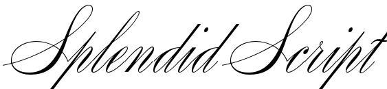 Шрифт Splendid Script