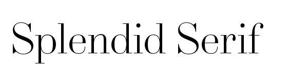 Шрифт Splendid Serif