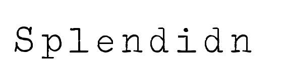 Шрифт Splendidn