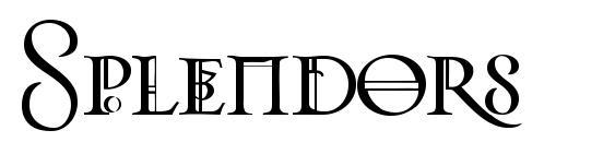 Шрифт Splendors