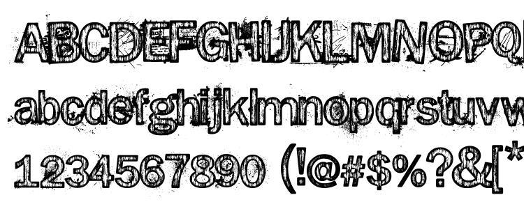 глифы шрифта Splinter2, символы шрифта Splinter2, символьная карта шрифта Splinter2, предварительный просмотр шрифта Splinter2, алфавит шрифта Splinter2, шрифт Splinter2