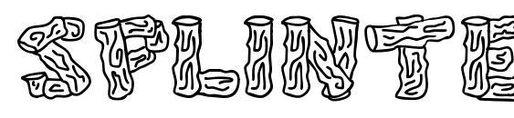 Splinters JL font, free Splinters JL font, preview Splinters JL font