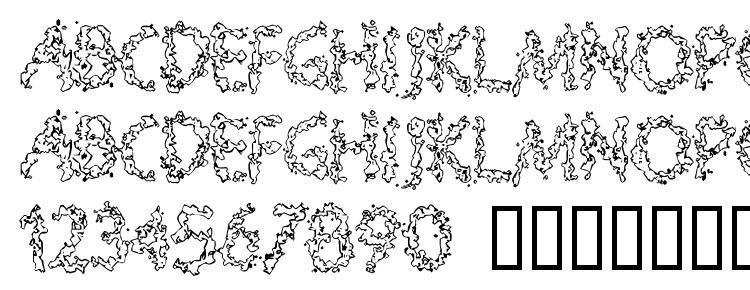 глифы шрифта Splooge, символы шрифта Splooge, символьная карта шрифта Splooge, предварительный просмотр шрифта Splooge, алфавит шрифта Splooge, шрифт Splooge