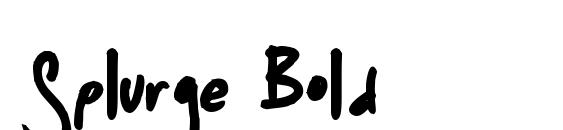 Splurge Bold Font